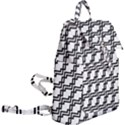 Pattern Monochrome Repeat Buckle Everyday Backpack View2