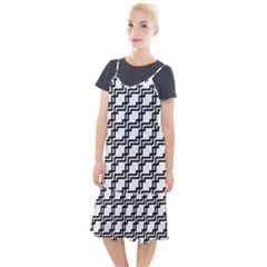 Pattern Monochrome Repeat Camis Fishtail Dress