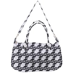 Pattern Monochrome Repeat Removal Strap Handbag