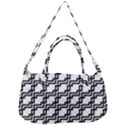 Pattern Monochrome Repeat Removal Strap Handbag View1
