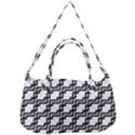 Pattern Monochrome Repeat Removal Strap Handbag View2