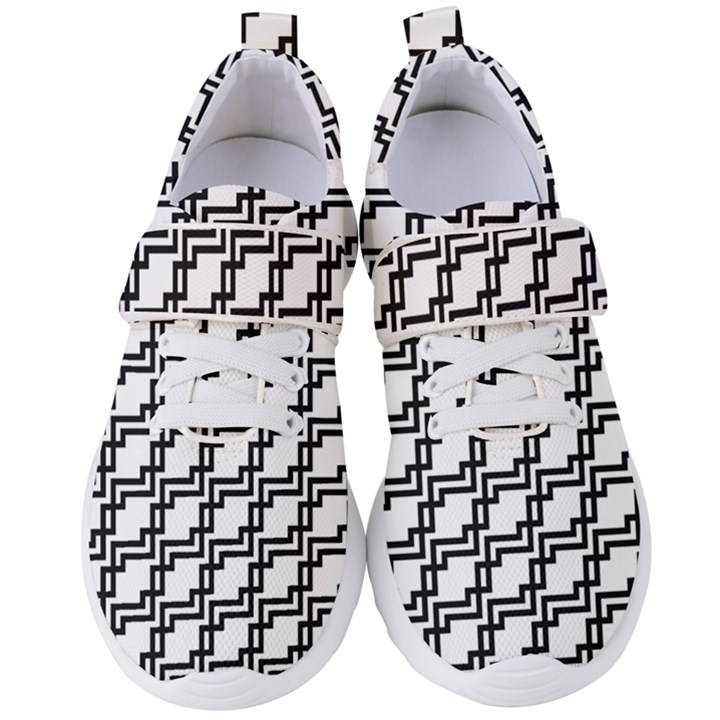 Pattern Monochrome Repeat Women s Velcro Strap Shoes