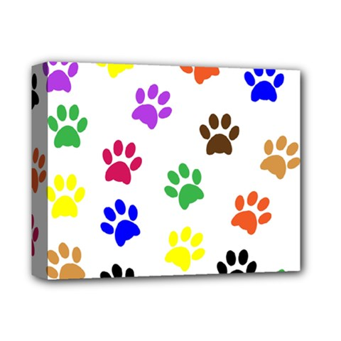 Pawprints Paw Prints Paw Animal Deluxe Canvas 14  X 11  (stretched)