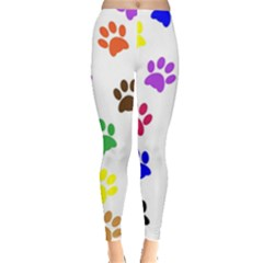 Pawprints Paw Prints Paw Animal Leggings  by Sapixe