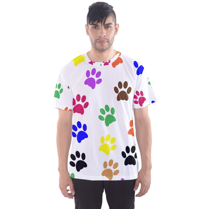 Pawprints Paw Prints Paw Animal Men s Sports Mesh Tee