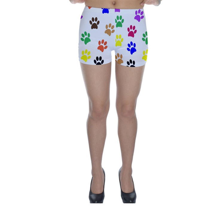 Pawprints Paw Prints Paw Animal Skinny Shorts