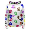 Pawprints Paw Prints Paw Animal Women s Pullover Hoodie View1