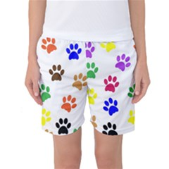 Pawprints Paw Prints Paw Animal Women s Basketball Shorts by Sapixe