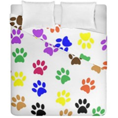Pawprints Paw Prints Paw Animal Duvet Cover Double Side (california King Size)