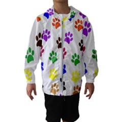 Pawprints Paw Prints Paw Animal Kids  Hooded Windbreaker by Sapixe