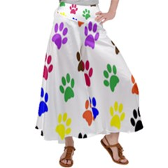 Pawprints Paw Prints Paw Animal Satin Palazzo Pants by Sapixe