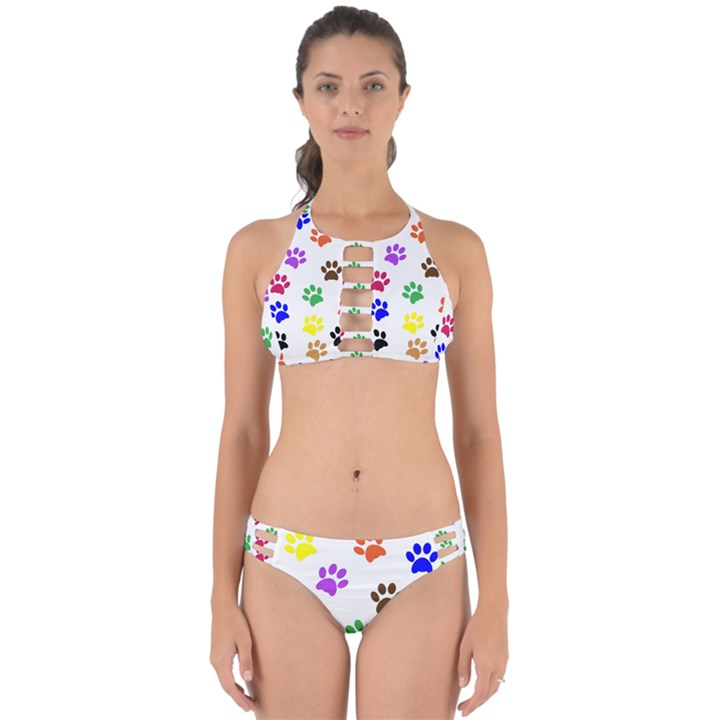 Pawprints Paw Prints Paw Animal Perfectly Cut Out Bikini Set