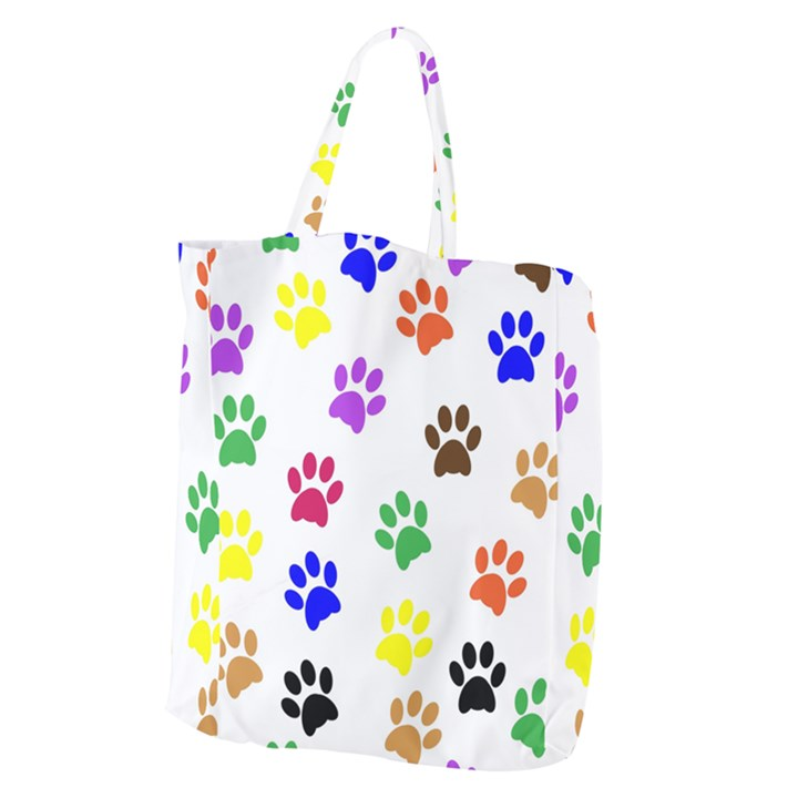 Pawprints Paw Prints Paw Animal Giant Grocery Tote