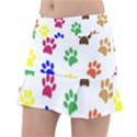 Pawprints Paw Prints Paw Animal Tennis Skirt View1