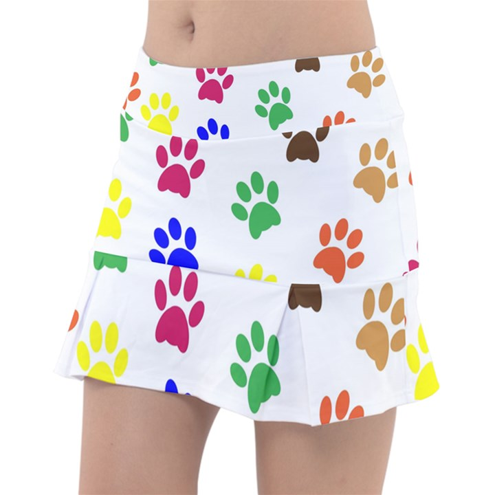 Pawprints Paw Prints Paw Animal Tennis Skirt
