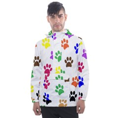 Pawprints Paw Prints Paw Animal Men s Front Pocket Pullover Windbreaker by Sapixe