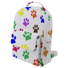 Pawprints Paw Prints Paw Animal Flap Pocket Backpack (small)