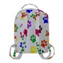 Pawprints Paw Prints Paw Animal Flap Pocket Backpack (Small) View3