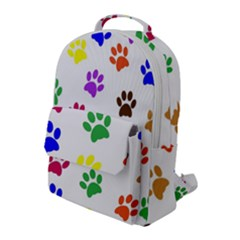 Pawprints Paw Prints Paw Animal Flap Pocket Backpack (large)