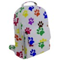 Pawprints Paw Prints Paw Animal Flap Pocket Backpack (Large) View2