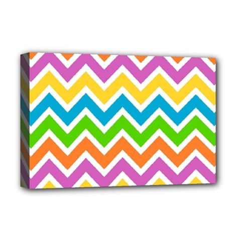Chevron Pattern Design Texture Deluxe Canvas 18  X 12  (stretched)