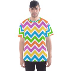 Chevron Pattern Design Texture Men s Sports Mesh Tee by Sapixe