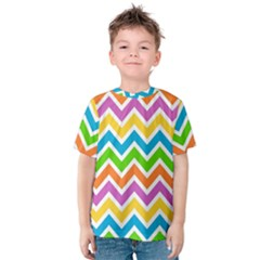 Chevron Pattern Design Texture Kids  Cotton Tee by Sapixe