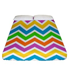 Chevron Pattern Design Texture Fitted Sheet (queen Size)