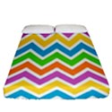 Chevron Pattern Design Texture Fitted Sheet (Queen Size) View1