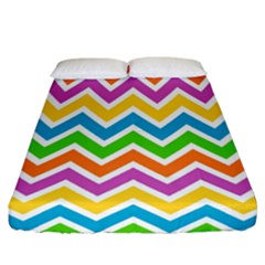 Chevron Pattern Design Texture Fitted Sheet (california King Size) by Sapixe