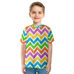 Chevron Pattern Design Texture Kids  Sport Mesh Tee by Sapixe