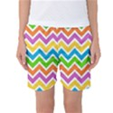 Chevron Pattern Design Texture Women s Basketball Shorts View1
