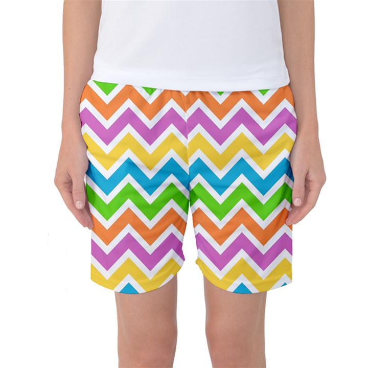 Chevron Pattern Design Texture Women s Basketball Shorts
