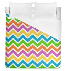 Chevron Pattern Design Texture Duvet Cover (queen Size) by Sapixe