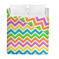 Chevron Pattern Design Texture Duvet Cover Double Side (full/ Double Size) by Sapixe