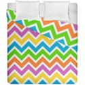 Chevron Pattern Design Texture Duvet Cover Double Side (California King Size) View1