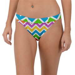 Chevron Pattern Design Texture Band Bikini Bottom by Sapixe