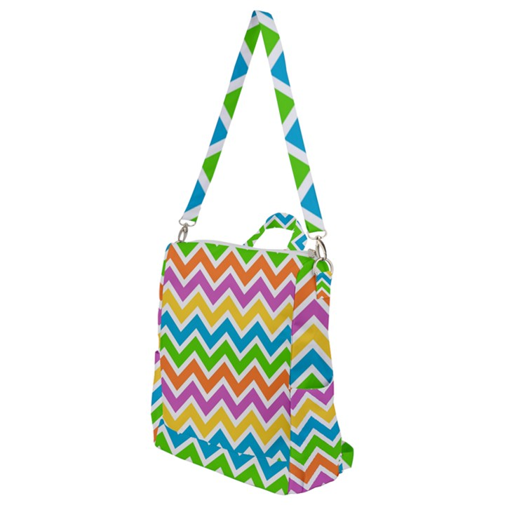 Chevron Pattern Design Texture Crossbody Backpack