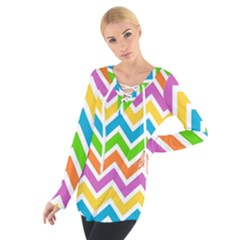 Chevron Pattern Design Texture Tie Up Tee by Sapixe