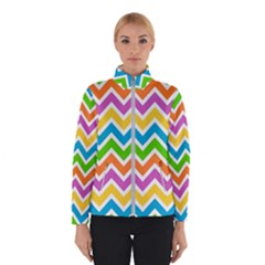 Chevron Pattern Design Texture Winter Jacket by Sapixe
