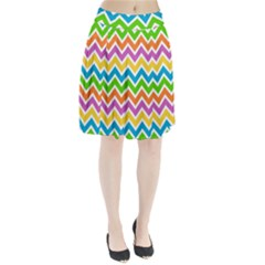 Chevron Pattern Design Texture Pleated Skirt