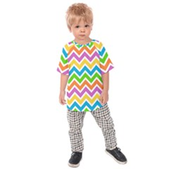Chevron Pattern Design Texture Kids  Raglan Tee by Sapixe
