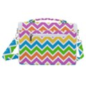 Chevron Pattern Design Texture Satchel Shoulder Bag View3