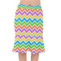 Chevron Pattern Design Texture Mermaid Skirt View1