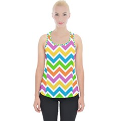 Chevron Pattern Design Texture Piece Up Tank Top