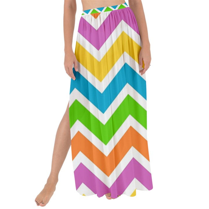Chevron Pattern Design Texture Maxi Chiffon Tie-Up Sarong