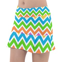 Chevron Pattern Design Texture Tennis Skirt by Sapixe