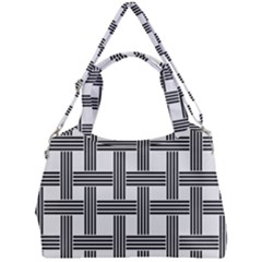 Seamless Stripe Pattern Lines Double Compartment Shoulder Bag by Sapixe