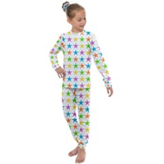 Star Pattern Design Decoration Kids  Long Sleeve Set  by Sapixe