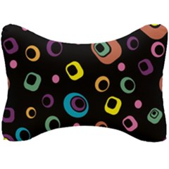 Abstract Background Retro Seat Head Rest Cushion